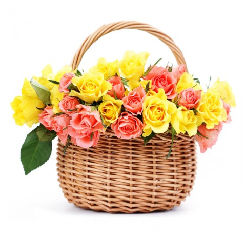 Basketofmixedroses